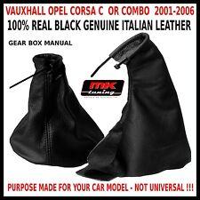 VAUXHALL OPEL 2001-06 CORSA C COMBO GEAR SHIFT HANDBRAKE GAITER GATOR LEATHER