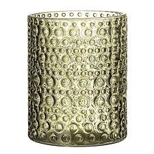Bloomingville Windlicht Glas Votive grün 12,5 cm Teelichtglas Teelichthalter Ker