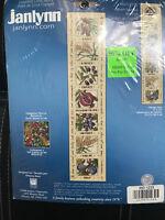 "NEW Janlynn SEVEN SPECIES Bell Pull # 023-0375 Counted Cross Stitch Kit 5 x 23"""