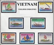 VIETNAM N°948A/948G** Bateaux Voiliers, 1988 Vietnam 1942-1948 Fishing boats MNH