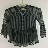 Style and Co Womens Top Shirt Black Size PS NWT