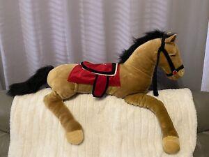 Animal Alley Rare Plush Pony Horse Toys R Us JUMBO XL 5 Feet Long 60