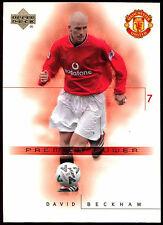 David BECKHAM Manchester United #46 Upper Deck 2001 CARD CALCIO commercio (c361)