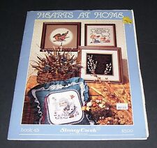 STONEY CREEK COUNTED CROSS STITCH 1986 HEARTS AT HOME BOOK 43 OOP