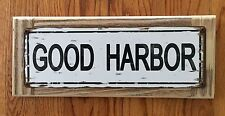 Good Harbor Gloucester MA Cape Ann Surf Vintage Street Sign Beach Home Decor