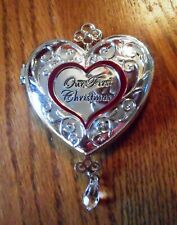 Things Remembered - Christmas Ornament - Our First Christmas Silver Heart