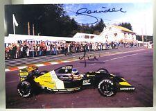 PHOTO cm21x30 signed x2 MINARDI FERRARI M191 Morbidelli #24 BELGIAN GP F1 1991