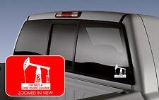 Oil pump jack derrick ONE PUMP CHUMP vinyl decal sticker oilfield CAR TRUCK