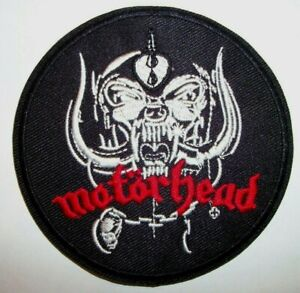"""Motorhead~Embroidered Applique Patch~3 1/2"""" Round~Iron or Sew On"""