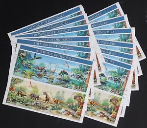 U.S. Used #3136 32c Dinosaurs Sheets of 15 (Lot of 12). Choice!