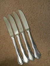 Sets of 4 Dinner Knives Serrated Tip BRIARWOOD Pfaltzgraff Stainless  (loc 060)
