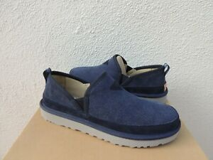 UGG DARK SAPPHIRE BLUE ROMEO CORDUROY/ WOOL SLIPPERS, MEN US 11/ EUR 44 ~NIB