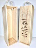 Personalised Bottle Presentation Box - Wine, Whiskey, Vodka, Gin. Laser Engraved