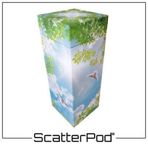 NEW! SPM22 Flying Doves Medium ScatterPod - Eco Friendly Scattering Urn