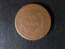 LC-2A2 Un Sous token Lower Bas Canada Montreal Québec Bouquet Co 9B Breton 713