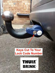 Thule Brink Tow Bar Hitch Lock Keys Made To Code Number-1D1 1D57-Towbar