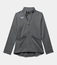 Under Armour Girls Pregame Woven Warm-Up Jacket Youth Medium 1277166-040 NWT $50