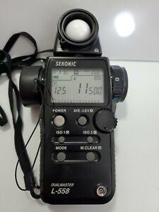 Sekonic L-558 DUAL MASTER Light Meter works great new battery