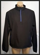 Sporte Leisure Windproof 1/4 Zip Top - Size Small - Black/Blue - New!