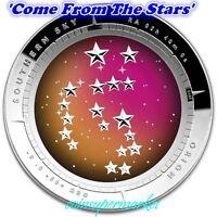 2014 Australia Southern Sky Orion 1oz Silver Proof Colored Domed Coin COA & Box!