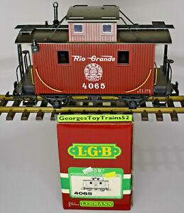 LEHMANN LGB G DRGW DENVER & RIO GRANDE WESTERN 2 AXLE BOBBER CABOOSE 4065 W/BOX