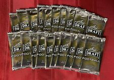 2020 NFL Leaf Draft Football (1) SEALED PACK from 2 Auto Box- 5 Cards per Pack