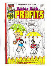 "Richie Rich Profits  No 18 : 1977 :"" Rainy Day  Cover! """