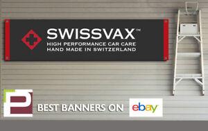 Swissvax Car Care Polish / Wax banner for Workshop, Garage, Office, man cave etc