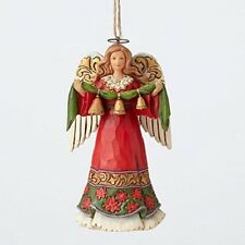Jim Shore Heartwood Creek Angel Holding Bells Christmas Ornament 4055123 New