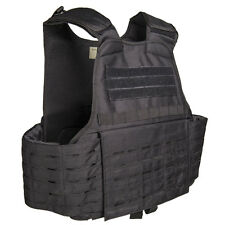 Mil-Tec Laser Cut MOLLE Pouch Tactical Combat Army Plate Carrier Vest Black