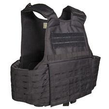 Mil-Tec Laser Cut MOLLE Pouch Tactical Combat Army Plate Carrier Vest Black