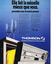 PUBLICITE ADVERTISING 064 1973 THOMSON lave vaisselle