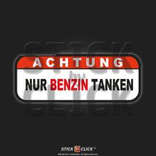 Achtung nur Benzin tanken Auto Aufkleber kein Diesel tanken Sticker Warnung