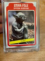 1980 Topps Star Wars Yoda Star File 1/1 Slick Stock Blank Back Proof Card Vault
