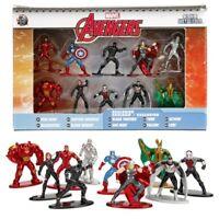 Jada Nano Metalfigs * Avengers 10-Pack * Thor Hulk Buster Loki Diecast Metal NIB