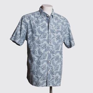 Tommy Bahama Shirt Size XL Men Light Blue Laurel Floral with Pocket