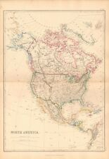 1859 Large Antique Map - Lowry- North America