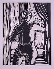 Bargheer, Eduard (1901-1979) - Holzschnitt Expressionismus Mann am Fenster 1935