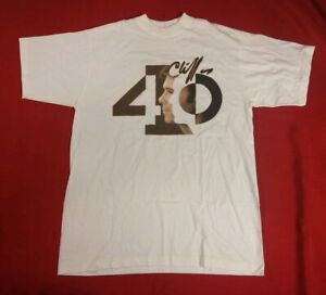 Vintage 40th anniversary Cliff Richard Off The Record WHITE T-Shirt Size L Large