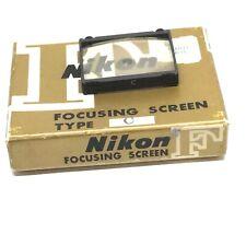 Nikon Type C Cross-hair Focusing Screen for F F2 35mm SLR Film Camera Viewfinder