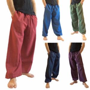 S-5XL Mens Drawstring Hippy Harem Trousers Thai Aladdin Alibaba Yoga Baggy Pants