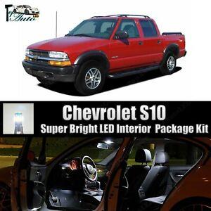Bright White LED Lights Interior Package Kit for 2002 2003 2004 Chevrolet S10