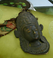 Old, Very Beautiful Tara Mask Made from Bronze Nepal