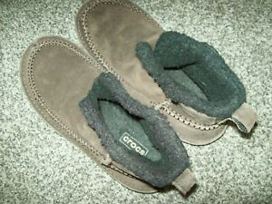 WINTER CROCS SUEDE SLIP ON CASUAL LOW BOOTS M9 W11 NR*