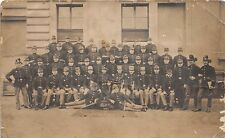 ATELIER KUNZL~LARGE GROUP OF SOLDIERS-1913 PHOTO POSTCARD