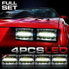 GENSSI Conversion 4x6 LED Headlights Headlamps for Chevy Camaro 1982-1992 (4pcs)