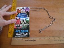 American Idol 2006 VIP party ticket pass badge Taylor Hicks Katharine McPhee