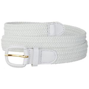Mens Braided Stretch Belts - Casual Golf Belt