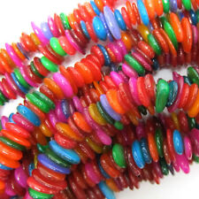 "6-10mm multicolor shell chip beads 32"" strand chips S2"