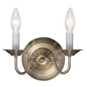 Livex Lighting Williamsburg Wall Sconce in Antique Brass - 5018-01